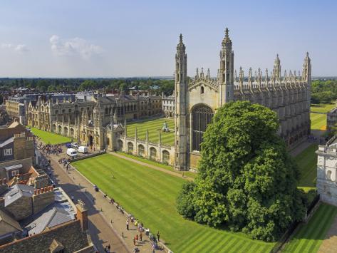 Kings College and Chapel, Cambridge, Cambridgeshire, England, United Kingdom, Europe Photographic Print
