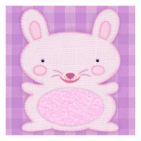 Needlepoint Bunny Wall Decal