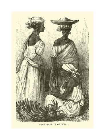 Negresses in Guiana Lámina giclée