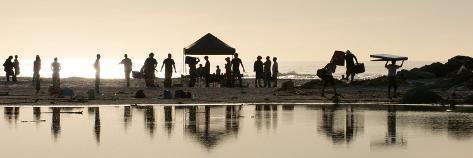 Film Shoot Beach Photographic Print