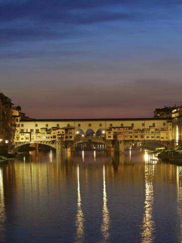 Ponte Vecchio, Arno River, Florence, Italy Photographic Print