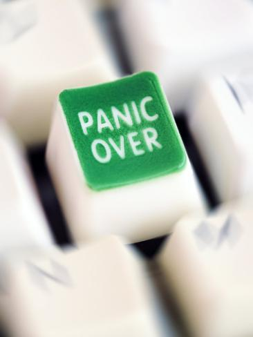 Computer Key Which Reads Panic Over Photographic Print