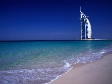 The Burj Al Arab or the Arabian Tower of the Jumeirah Beach Resort, Dubai, United Arab Emirates Photographic Print