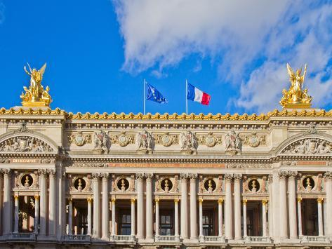 Facade of  Paris Opera House, France Photographic Print