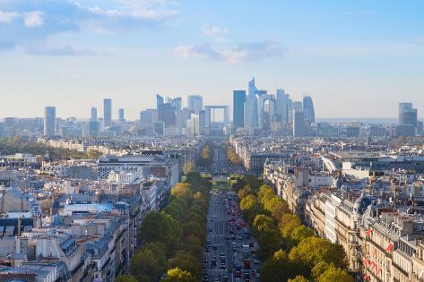Skyline of Paris, France Photographic Print