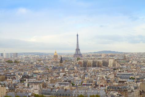 Skyline of Paris with Eiffel Tower Photographic Print