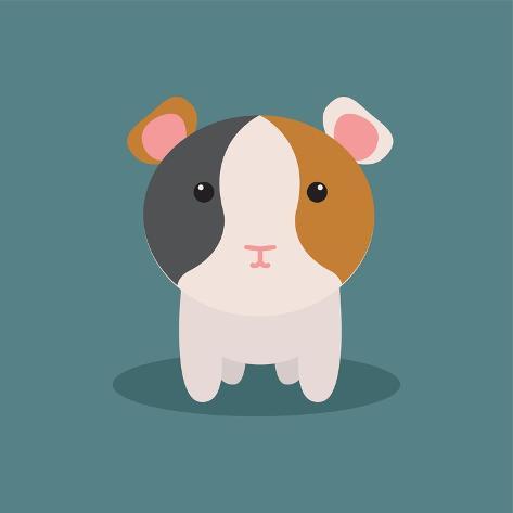 cute cartoon hamster prints by nestor david ramos diaz by