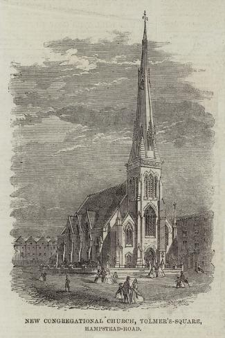 New Congregational Church, Tolmer's-Square, Hampstead-Road Giclee Print