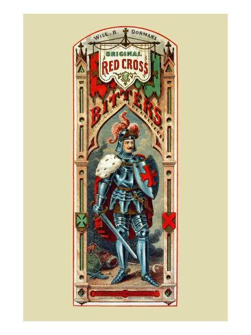 Will. B. Dorman's Original Red Cross Bitters Stretched Canvas Print