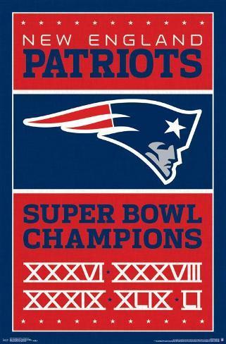 New England Patriots- Champions 17 Poster