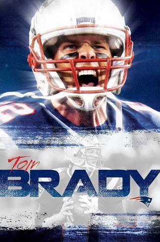 New England Patriots- T Brady 16 Poster