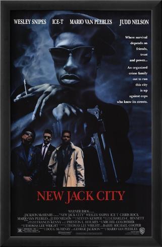 New Jack City: A Gangue Brutal Impressão artística emoldurada