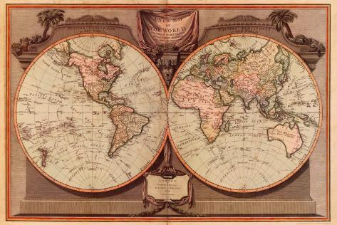 New Map of the World Art Print