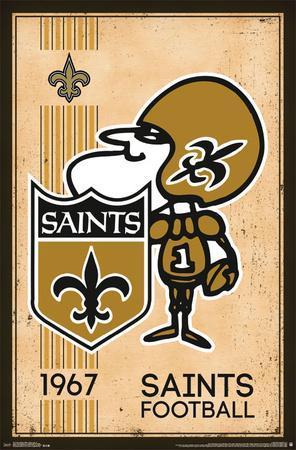 New Orleans Saints Retro Logo 14 Prints At Allposters Com