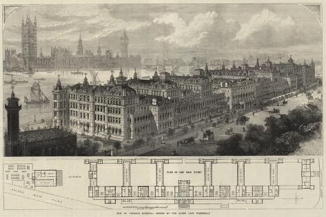 New St Thomas's Hospital, Opened by the Queen Last Wednesday Giclee Print