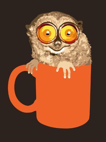 Lemur in Coffee Mug Photographic Print
