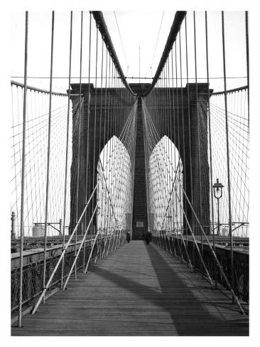 New York, Brooklyn Bridge Cable Giclee Print