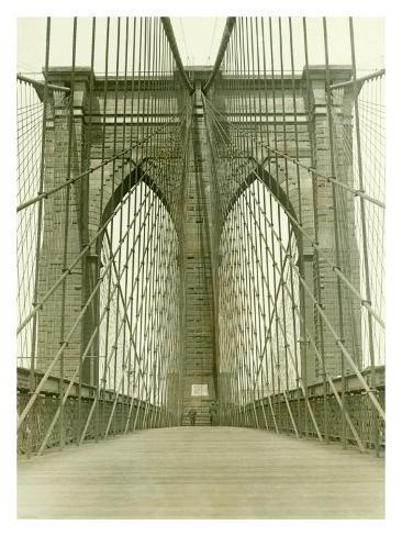 New York, Brooklyn Bridge Tower Giclee Print