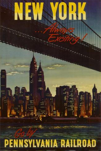 New York by Pennsylvania Railroad Poster
