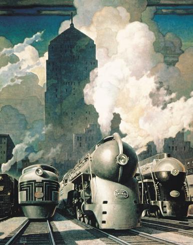 New York Central System Art Print
