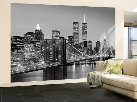 New York City Brooklyn Bridge By Henri Silberman Huge Wall Mural Art Print  Poster Mural De Part 85