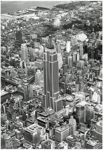 New York City Empire State Building Archival Photo Poster Print Poster