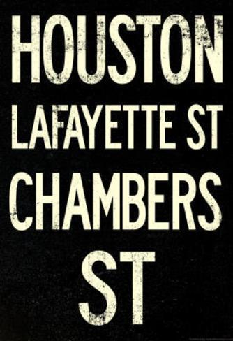 New York City Houston Chambers Vintage Subway Poster Masterprint