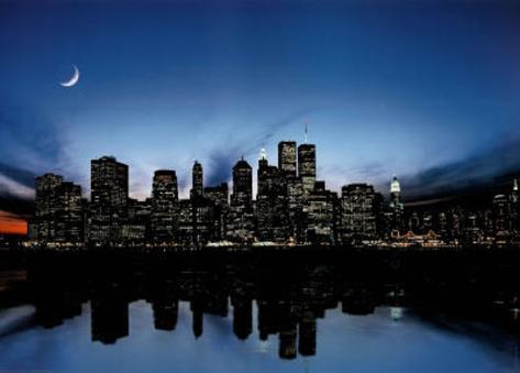 New York City Skyline Art Print Poster Poster