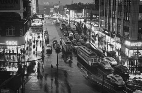 New York City Streetcars at Night Archival Photo Poster Print Masterprint