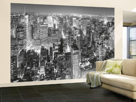 New york city view from the empire state building huge for Acheter poster mural new york