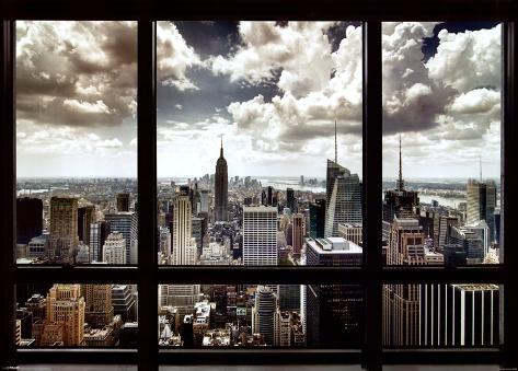 New York City Window Giant Poster
