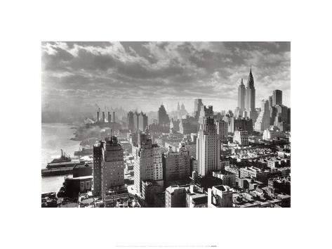 New York Collection East River Waterfront Art Print