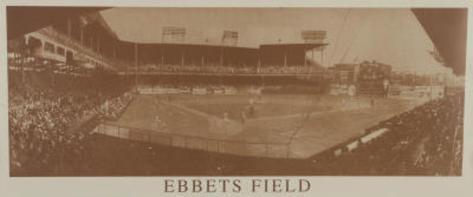 New York Ebbets Field B&W Vintage Photo Sports Poster Print Poster