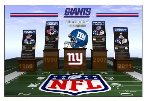 New York Giants 2012 - Four Time Super Bowl Champions Poster