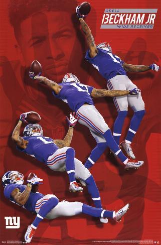 New York Giants - O Beckham 2015 Pôster