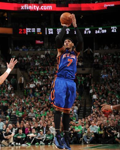 New York Knicks v Boston Celtics - Game One, Boston, MA - April 17: Carmelo Anthony Photo