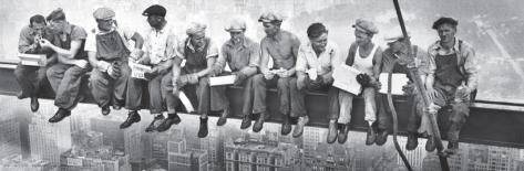 New York - Lunchmen Full Bleed Poster