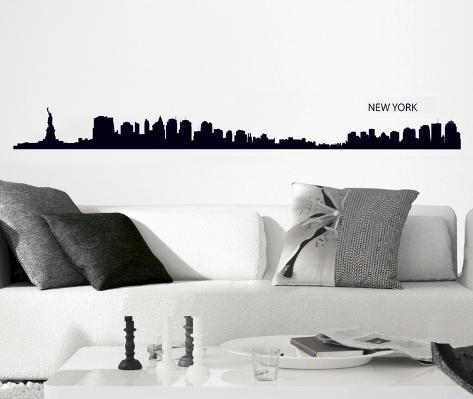 New York Outline Wall Decal