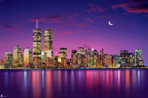 new york skyline posters. Black Bedroom Furniture Sets. Home Design Ideas