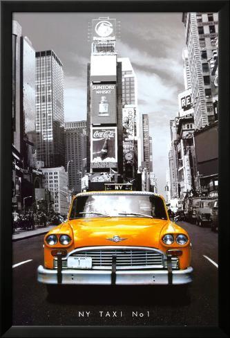 New York Taxi No. 1 Lamina Framed Poster