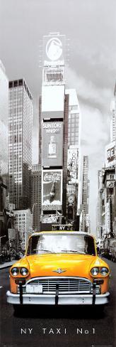 New York Taxi No 1 Door Poster