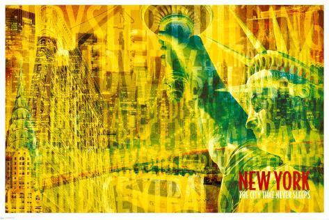New York - The City That Never Sleeps Poster