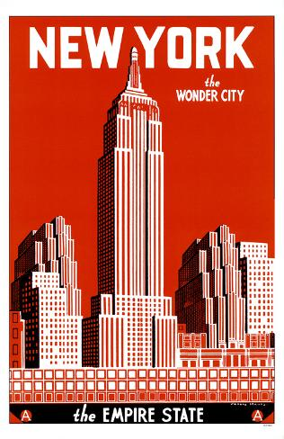 New York the Wonder City Masterprint