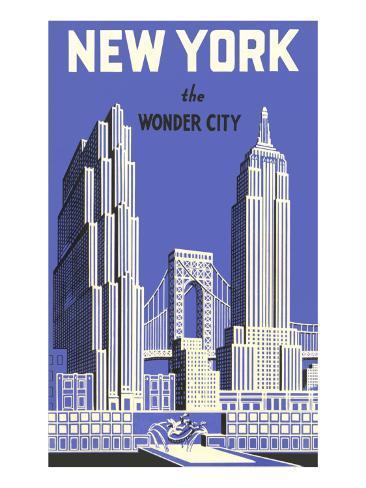 New York, the Wonder City Art Print