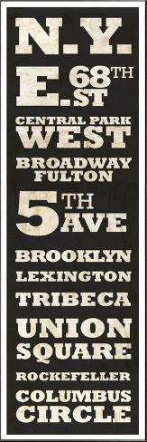 New York Vintage Sign Art Print