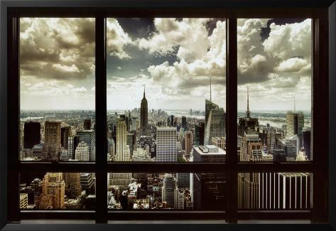 New York Window Lamina Framed Poster