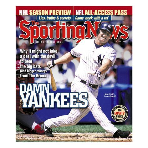 New York Yankees 1B Jason Giambi - October 7, 2002 Stretched Canvas Print