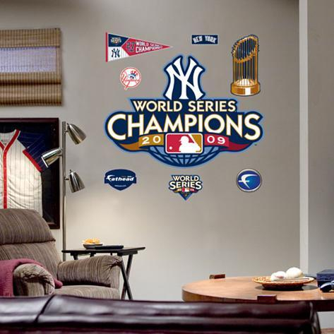 New York Yankees 2009 World Series Champions Logo Wall Decal