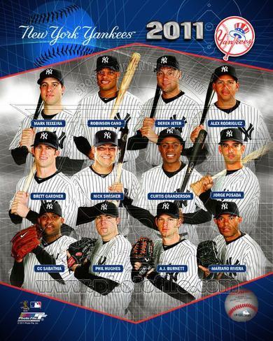 New York Yankees 2011 Team Composite Photo