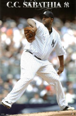 New York Yankees (C.C. Sabathia) Poster